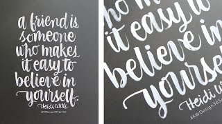Brush Lettering 3 - Instagram 365 Project - #KWDesign365quotes