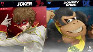 JOKER (R Down) VS. Donkey Kong (Om1) - SUPER SMASH BROS ULTIMATE