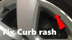 How to Repair Curb Rash on any wheel rim