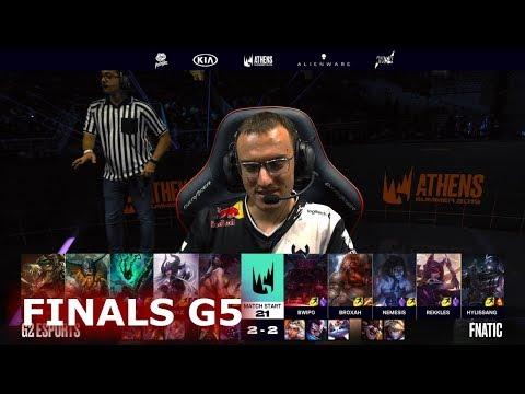 Fnatic vs G2 eSports - Game 5  Finals S9 LEC Summer 2019 Playoffs  FNC vs G2 G5
