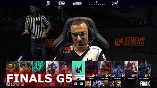 Fnatic vs G2 eSports - Game 5 | Finals S9 LEC Summer 2019 Playoffs | FNC vs G2 G5