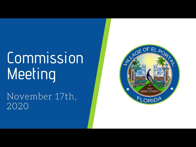 Village of El Portal Council Meeting November 17, 2020