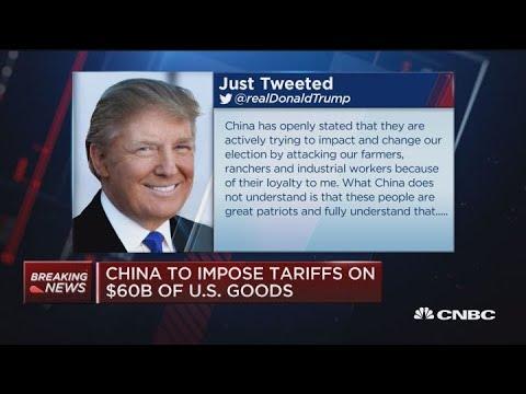 China To Impose Tariffs On $60 Billion Of US Goods