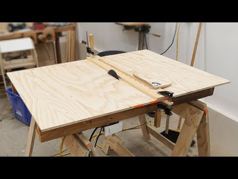 Making A Quick And Dirty Table Saw (in About An Hour)