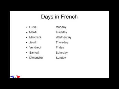 days and months in french youtube. Black Bedroom Furniture Sets. Home Design Ideas