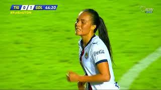 Resumen   Tigres Femenil 2 - 1 Guadalajara Femenil   Liga MX Femenil - Apertura 2018 - Jornada 17  