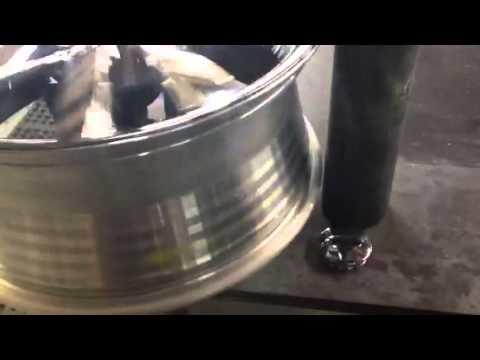 How to repair bent chrome rims