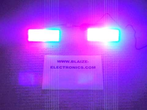 police car lights red and blue led flashing car strobe