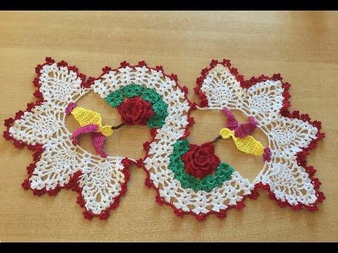Tuto chemin de table colibri au crochet 1 2 youtube - Napperon crochet chemin de table ...