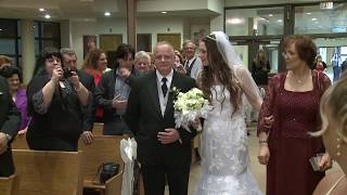 Walk Down the Aisle - Bride and Groom Wedding Processional at St. Peter's Catholic Church Toronto