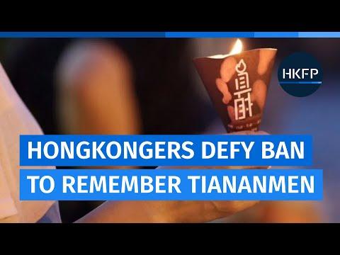 Hongkongers defy police ban to remember Tiananmen dead in Victoria Park