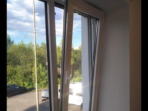 Установка поворотно откидной фурнитуры Stublina на алюминиевое окно