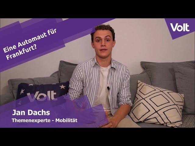 YouTube: Jan Dachs von Volt zur Automaut