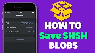How to Save iOS 11.3 SHSH Blobs ( NEW )!!