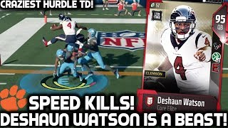 DESHAUN WATSON IS ELECTRIFYING! HURDLES THREE PLAYERS?! Madden 18 Ultimate Team