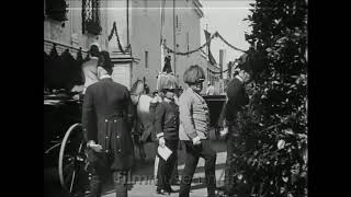 Kaiser Franz Joseph I of Austria , old movie from 1910!!