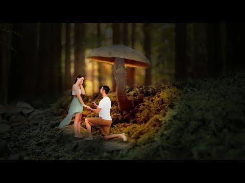 glowing mushroom Photoshop !! Photo Manipulation Tutorial !! Love Manipulation thumbnail