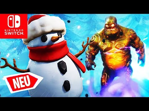 🔴 Schneemanntarnung & GOLDIES! Eissturm Herausforderungen | Fortnite Switch Deutsch thumbnail