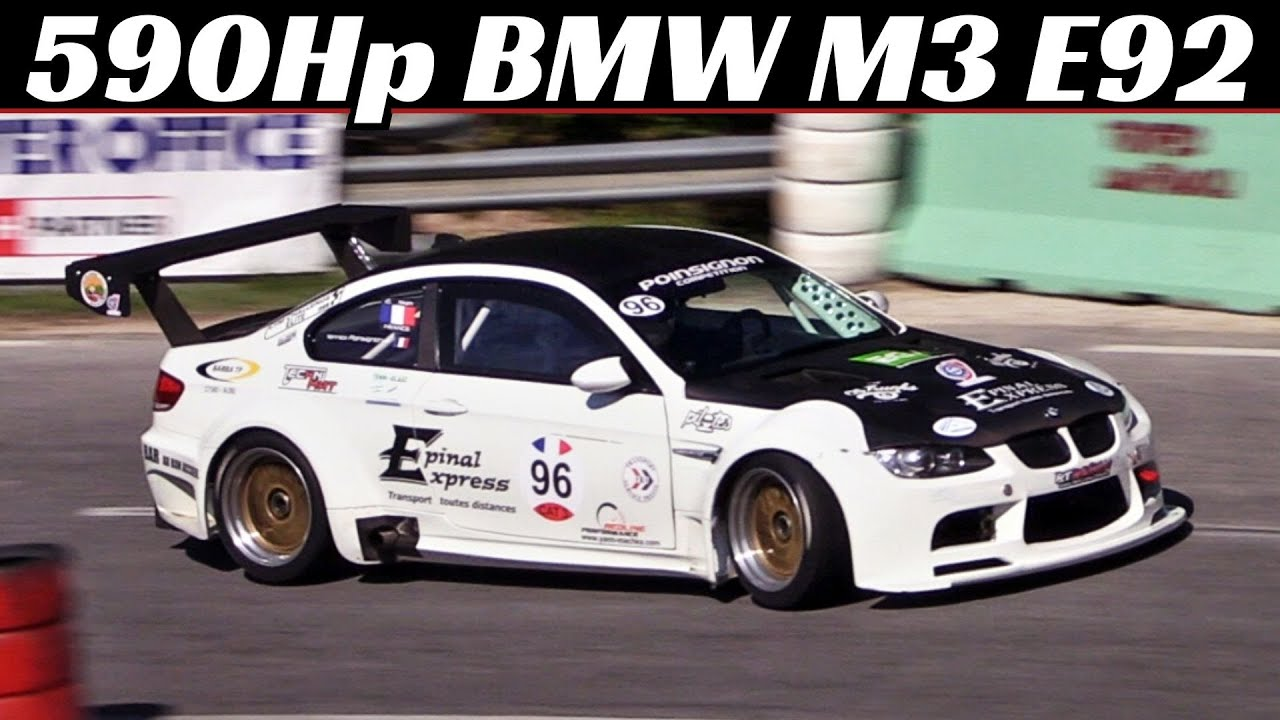 590hp BMW M3 E92 + GT2 Widebody - V8 Naturally Aspirated Engine  - Hillclimb Monster - FIA Masters