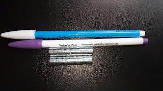 Распаковка.Обзор посылок с AliExpress магниты и маркеры для ткани самоисчезающие .