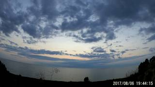 Pure Michigan. Muted sunset over the Lake Michigan in 2 sec timelapse. 8/13/2017