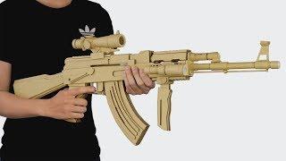 Wie man Pappe Gun | Amzing AK-47-Gewehr, Das Schießt