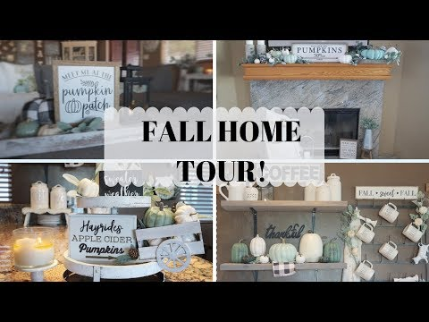 FALL HOME TOUR FARMHOUSE  FALL DECOR 2019