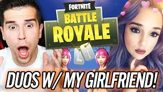 FORTNITE w/ MY GIRLFRIEND!! NEW SKIN!! | Fortnite: Battle Royale (Blitz Game Mode Victory Royale!)