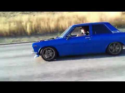 1969 Datsun 510 with SR20DET highway pull - YouTube