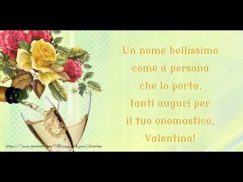 Buon Onomastico Valentina Youtube
