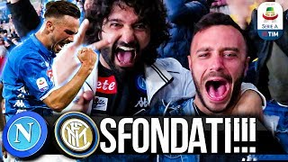SFONDATI!!! NAPOLI 4-1 INTER | LIVE REACTION STADIO SAN PAOLO HD