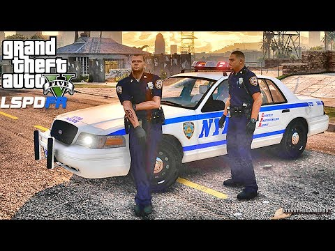 LSPDFR #596 NYPD CITY PATROL!! (GTA 5 REAL LIFE POLICE PC MOD) CVPI
