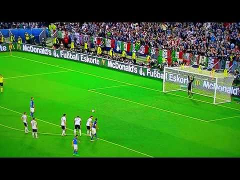 GOL DI BONUCCI SU RIGORE Germania Italia 1 a 1 Euro2016 2 luglio 2016 - FULL HD