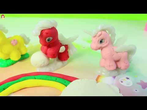 PLASTILINA PLAY DOUGH PONY LAND PONIES DE COLORES|Mundo de juguetes