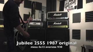 Original Marshall Jubilee 2555 1987 vs Marshall DSL 100w 2007