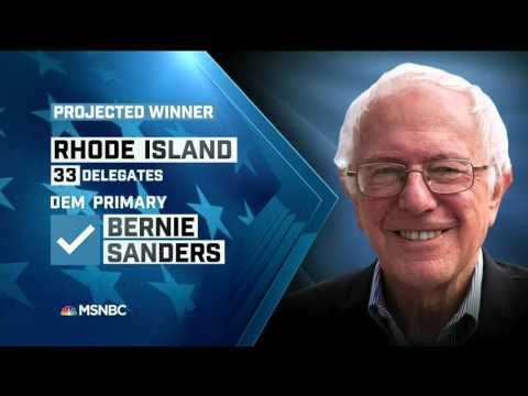 MSNBC Projects Bernie Sanders Wins Rhode Island Primary