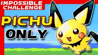 Can We Beat Pokemon Emerald with a Single Pichu? NO ITEMS!