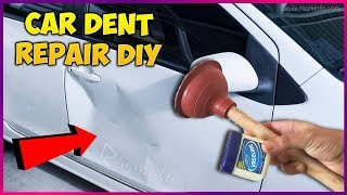 Car Dent Repair With Vaseline and Toilet Plunger DIY