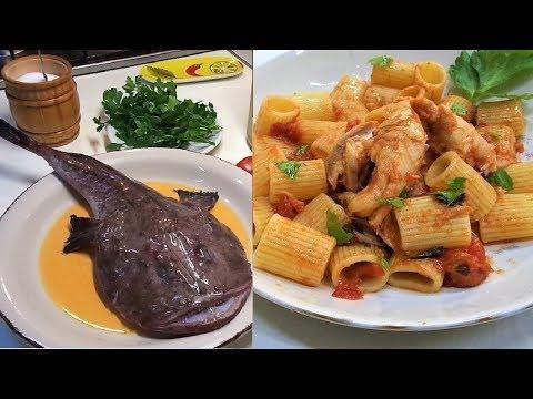 Italian Monkfish Recipe - Pasta With Monkfish.