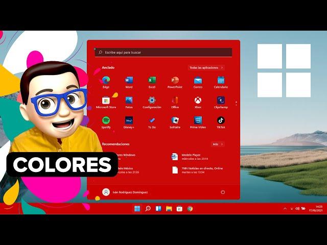 Cambiar COLOR 🌈 del MENÚ INICIO y BARRA DE TAREAS en Windows 11 ✅