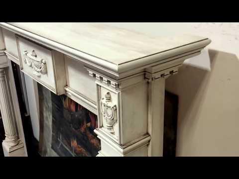 Lewisburg Mantel with Antique Glaze Finish