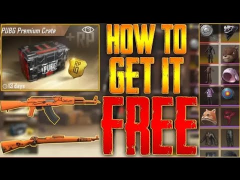 PUBG MOBILE HOW TO GET FREE GUN SKINS, FREE PREMIUM CRATES UPDATE
