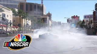 NASCAR drivers perform their best burnouts on Las Vegas Strip I NBC Sports