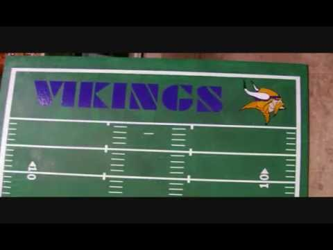 Packer and Vikings Beer Pong Table Creation