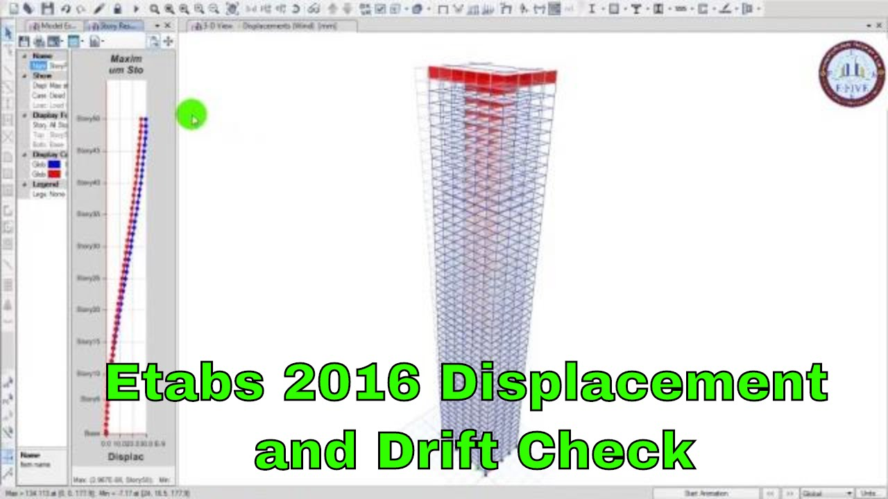 ETABS 2016 - Displacement - Drift Check by Structural Engineers Program