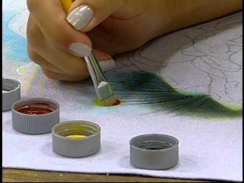 Arte Brasil - 21/01/14 - Eliana Rolim - Pintura em Tecido - YouTube