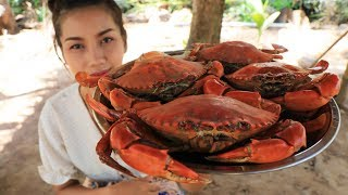 Yummy cooking crab with vegetable recipe  Cooking skill