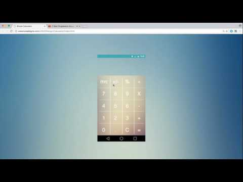 How to create a simple calculator using HTML5, CSS, Javascript
