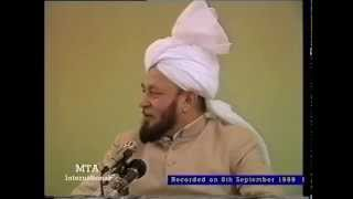 Friday Sermon 8 September 1989