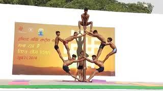 #Mallkhamb show of indira gandhi national center of arts